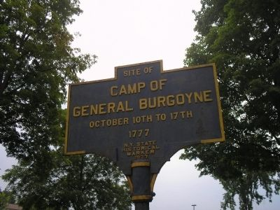 Camp of General Butgoyne Marker image. Click for full size.