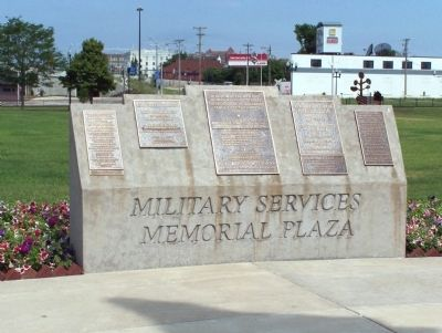 Military Services Memorial Plaza Marker image. Click for full size.