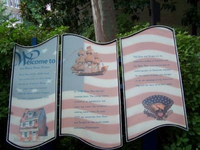 Welcome to the Betsy Ross House Marker image. Click for full size.