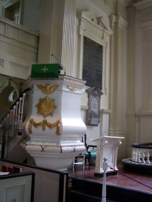 Christ Church Pulpit image. Click for full size.