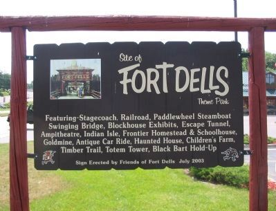 Site of Fort Dells Marker image. Click for full size.