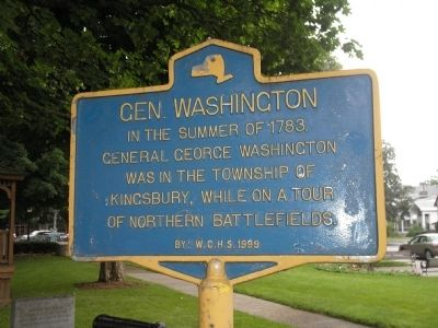 Gen. Washington Marker image. Click for full size.