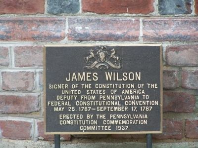 James Wilson Marker image. Click for full size.