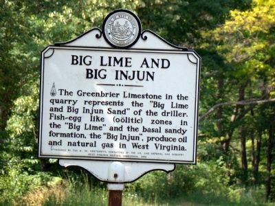 Big Lime and Big Injun Marker image. Click for full size.