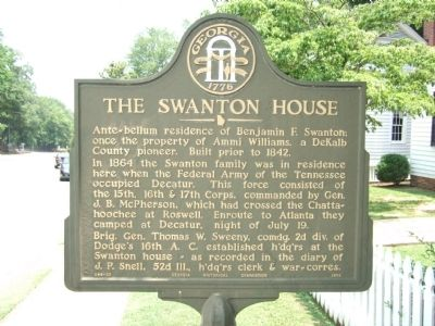 The Swanton House Marker image. Click for full size.
