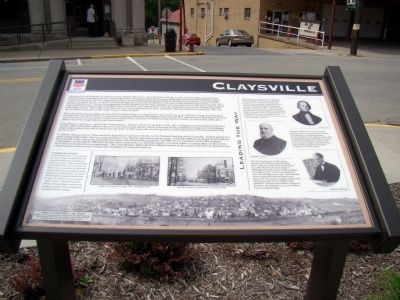 Claysville Marker image. Click for full size.