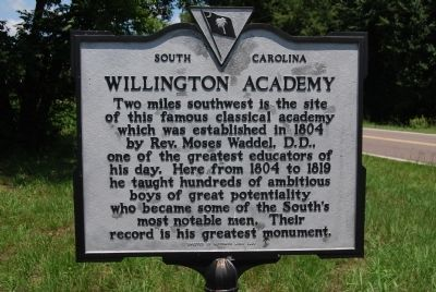 Willington Academy Marker image. Click for full size.