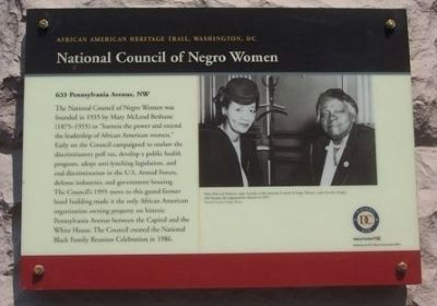 National Council of Negro Women Marker image. Click for full size.