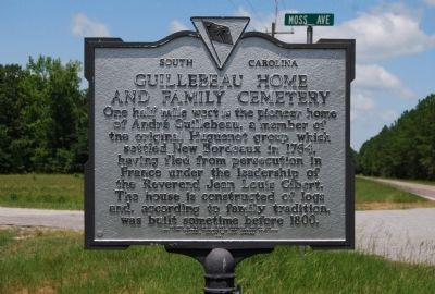 Guillebeau Home and Family Cemetery Marker - Front image. Click for full size.