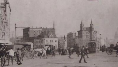 Pennsylvania Avenue: View across 7th Street toward the Capitol, late 19th Century image. Click for full size.