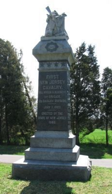 First New Jersey Cavalry Monument image. Click for full size.