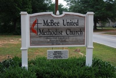 McBee United Methodist Church Sign image. Click for full size.