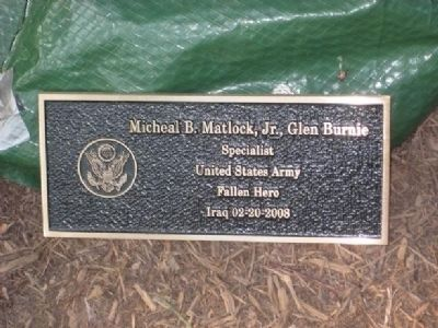 Micheal B. Matlock, Jr. Marker image. Click for full size.
