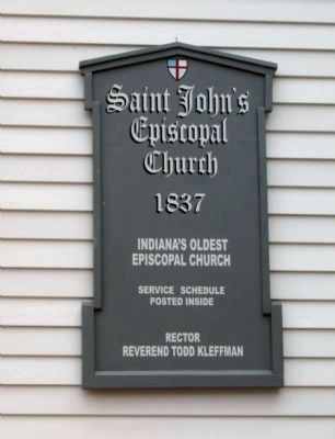 Saint John's Episcopal Church Marker image. Click for full size.