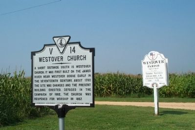 Westover Church Marker image. Click for full size.