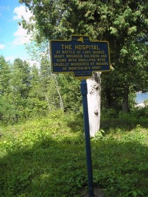 Marker in in Lake George Battlefield Park image. Click for full size.