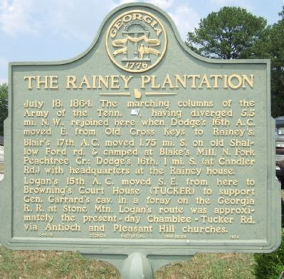 The Rainey Plantation Marker image. Click for full size.