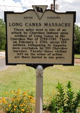 Long Canes Massacre Marker image. Click for full size.