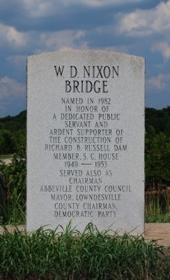 W.D. Nixon Bridge Marker image. Click for full size.