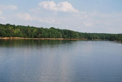Richard B. Russell Lake<br>From the W.D. Nixon Bridge<br>Fishing Pier image. Click for full size.