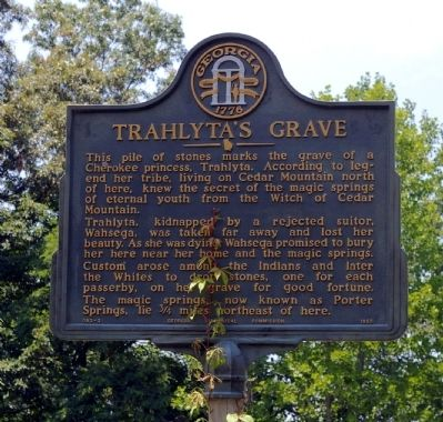 Trahlyta's Grave Marker image. Click for full size.