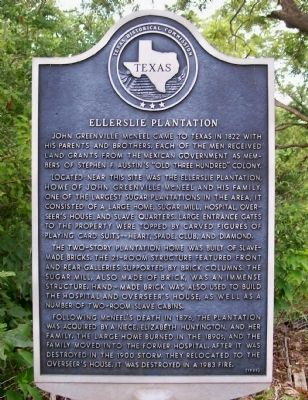 Ellerslie Plantation Marker image. Click for full size.