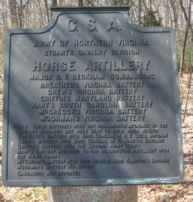 Horse Artillery Tablet image. Click for full size.