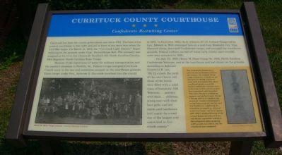 Currituck County Courthouse Marker image. Click for full size.