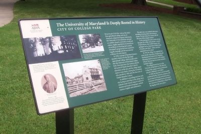 The University of Maryland Is Deeply Rooted in History. image. Click for full size.