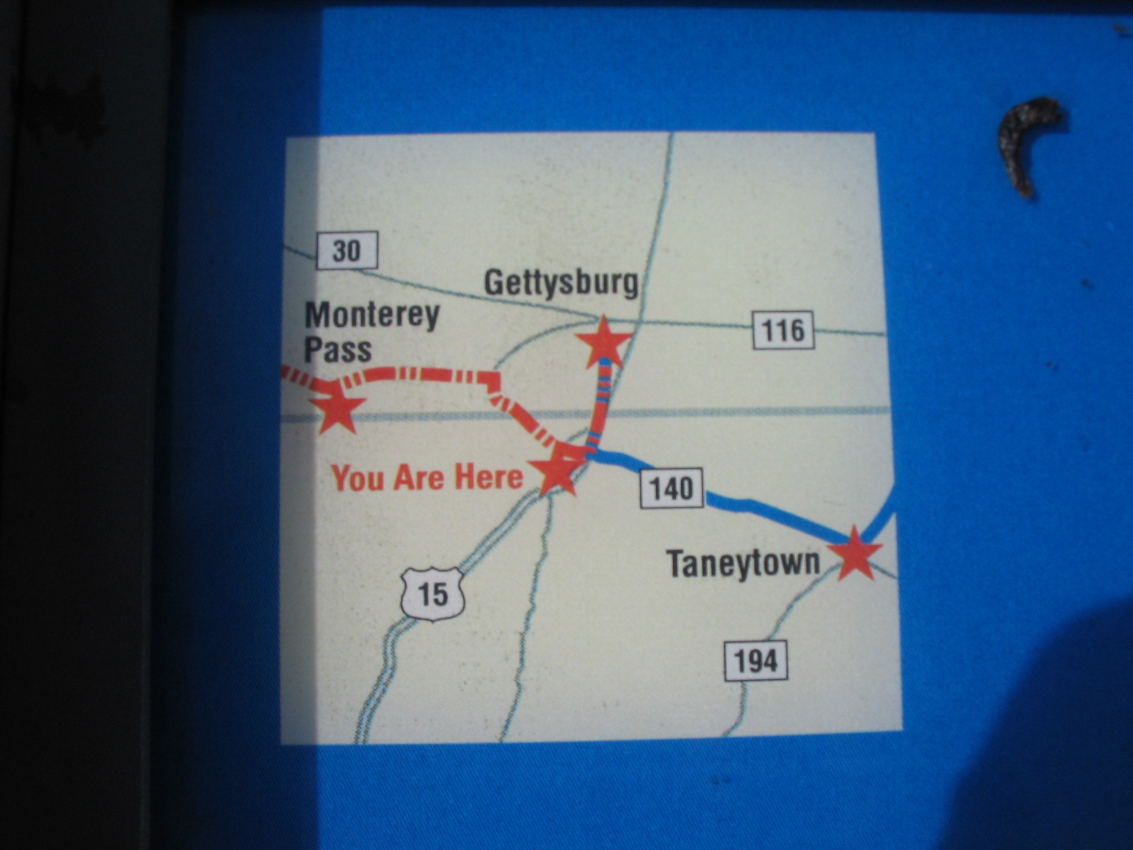 Map in the Header of the Marker
