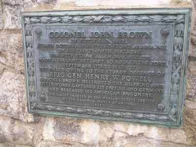 Colonel John Brown Marker image. Click for full size.