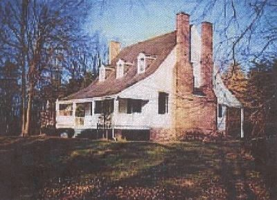 """Piscataway House"" - now preserved in the Broad Creek HIstoric District image. Click for full size."