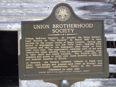 Union Brotherhood Society Marker image. Click for full size.