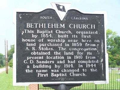 Bethlehem Church Marker image. Click for full size.