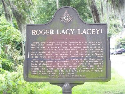 Roger Lacy (Lacey) Marker image. Click for full size.