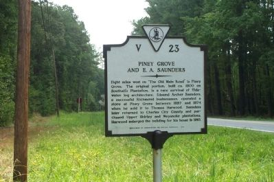 Piney Grove and E. A. Saunders Marker image. Click for full size.
