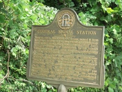 Federal Signal Station Marker image. Click for full size.
