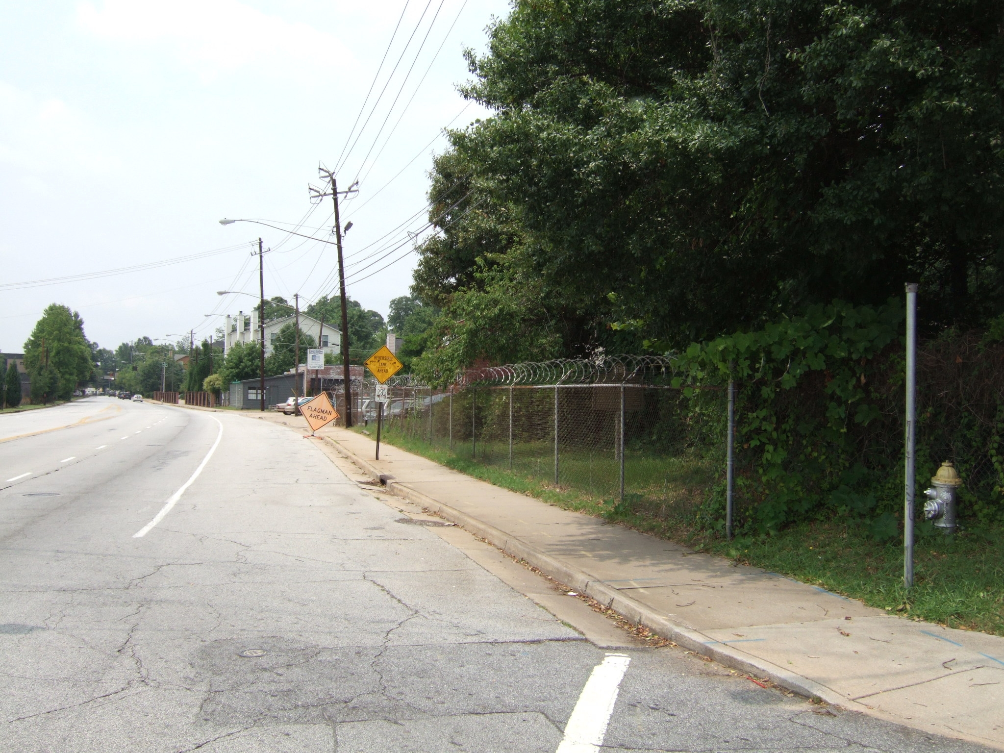View from Marker towards DeGress Avenue