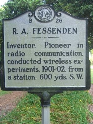 R. A. Fessenden Marker image. Click for full size.
