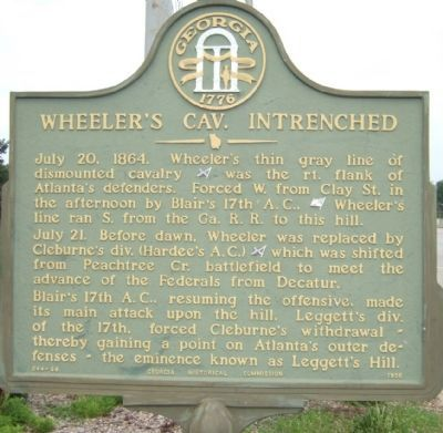 Wheeler's Cav. Intrenched Marker image. Click for full size.