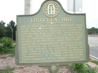 Leggett's Hill Marker image. Click for full size.
