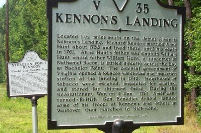 Kennon's Landing Marker image. Click for full size.