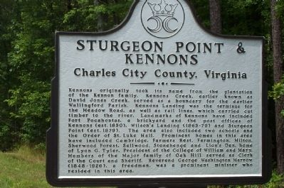 Sturgeon Point & Kennons Marker image. Click for full size.