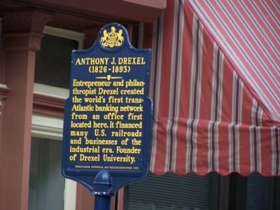 Anthony J. Drexel Marker image. Click for full size.