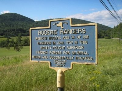 Rogers' Rangers Marker image. Click for full size.