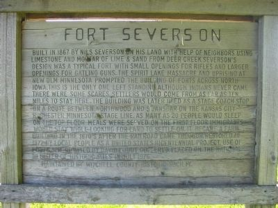 Fort Severson Marker image. Click for full size.