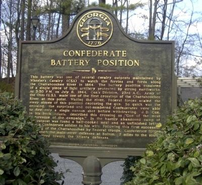Confederate Battery Position Marker image. Click for full size.