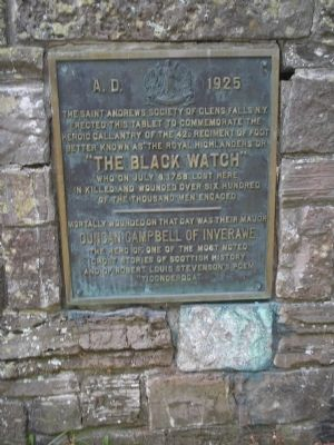 """The Black Watch"" Marker image. Click for full size."