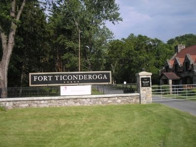 Exit from Fort Ticonderoga image. Click for full size.