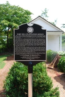 Fort Hill Plantation Office Marker image. Click for full size.